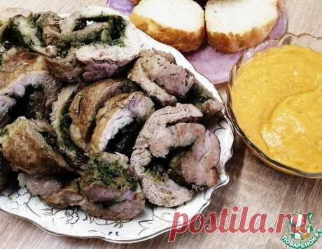 Мясной рулет с базиликом и чесноком – кулинарный рецепт