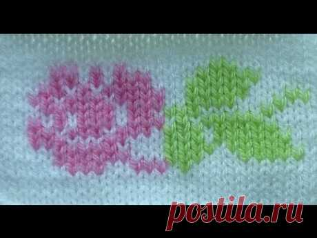 Вышивка по петлям - YouTube