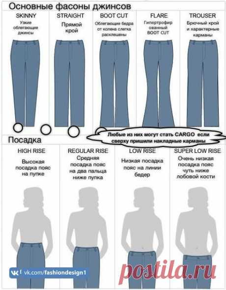 Основные фасоны джинсов — Сделай сам, идеи для творчества - DIY Ideas