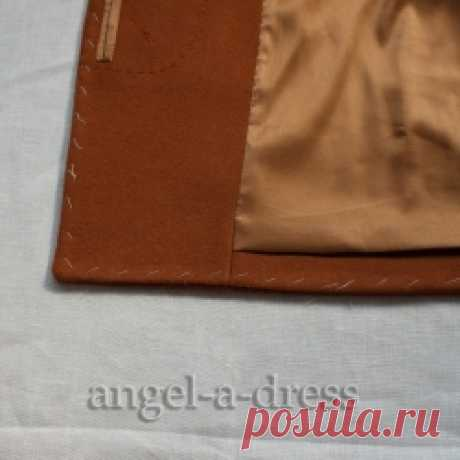 how to process a coat bottom | the Creative workshop Angel And