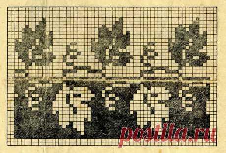 Листья вышивка крестом