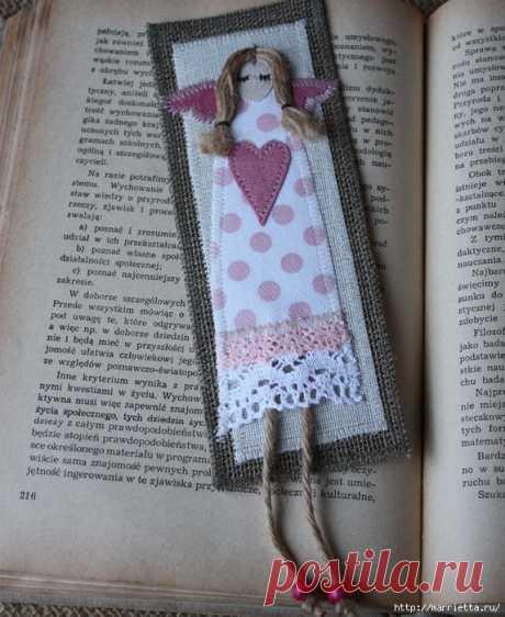 Закладки для книжки и подвески с ангелами. Идеи
