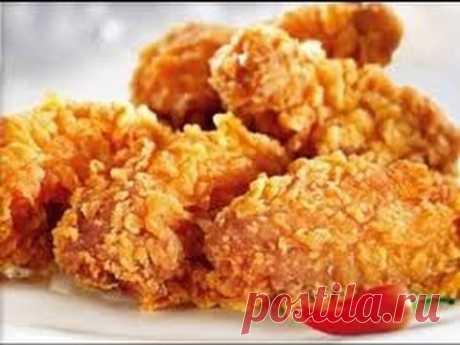 Como preparar oboldennye las alitas de gallina en original panirovke, las recetas del pájaro - YouTube