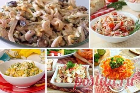 Салаты с морепродуктами. 5 рецептов
