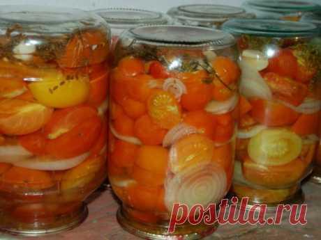 Консервированные помидоры на зиму без утомительной стерилизации