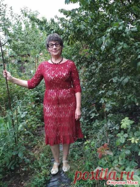 . Платье, в котором у меня всегда хорошее настроение и БУСИНЫ к нему! - Вязание - Страна Мам