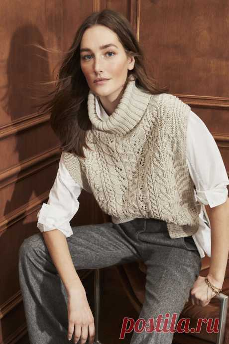 Склеила для вас схему вязания узора жилета от Veronica Beard   Всё лучшее - маме   Яндекс Дзен