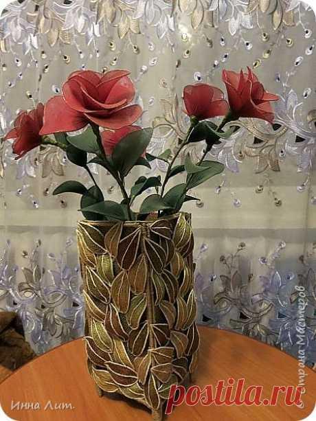 Осенняя ваза из джута и мешковины ,и немного МК. | Страна Мастеров
