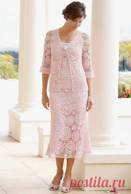 Ivelise Hand: Комплект Платье И Кардиган