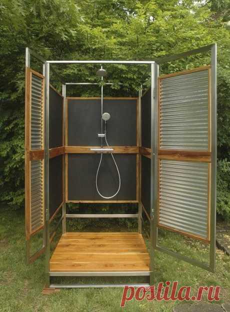 Летний душ на даче: 35 интересных идей ~ ALL-DEKOR
