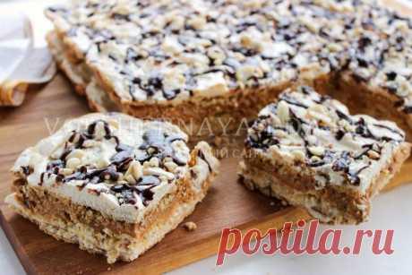 Ореховый торт с арахисом | Волшебная Eда.ру