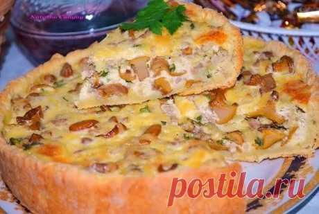 Обалденный Пирог с курицей и грибочками — Готовим по-домашнему