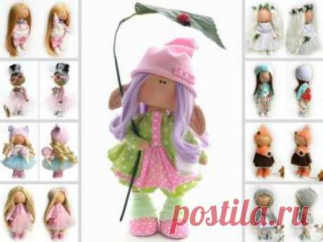Elf Rag Doll, Interior Decor Doll, Russian Art Doll, Poupée, Cloth Soft Doll, Pink Muñecas, Textile Nursery Doll, Tilda Doll by Natalia P Hello, dear visitors!  This is handmade cloth doll created by Master Natalia P (Moscow, Russia). All dolls on the photo are mady by artist Natalia P. You can find them in our shop searching by artist name. Here are all dolls of artist Natalia P: