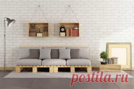 Поддоны в интерьере: примеры оригинальной мебели.