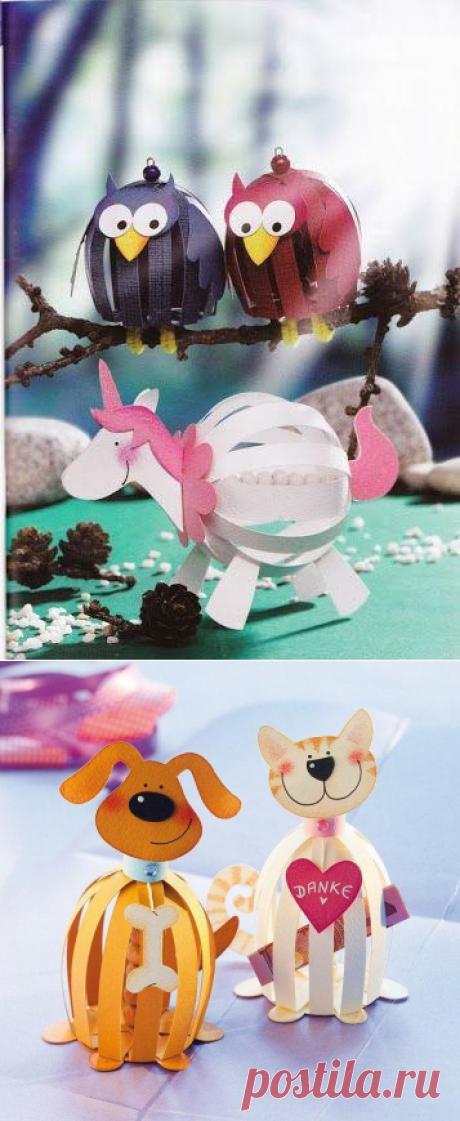 Забавные поделки с детьми из бумаги