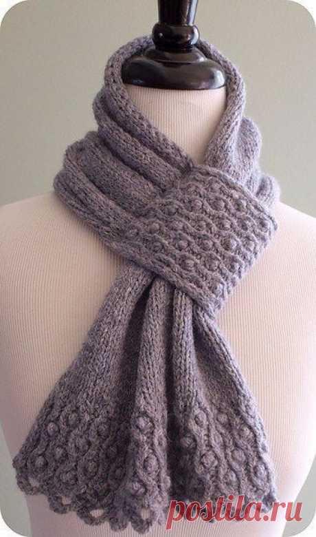 Креативный шарф спицами из категории Интересные идеи – Вязаные идеи, идеи для вязания