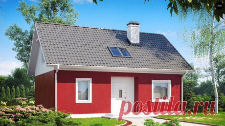 Z34 Практичный дом для небольшого участка, простой в строительстве, дешевый в эксплуатации | Z500 Архитектурное бюро | Яндекс Дзен
