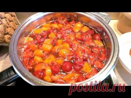 СУПЕР ВАРЕНЬЕ из ревеня, клубники 🍓 и абрикосов / SUPER rhubarb-strawberries-apricots JAM