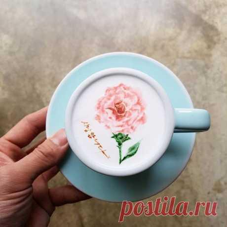 Кофе, который жалко пить: кореец создает волшебные картины на латте