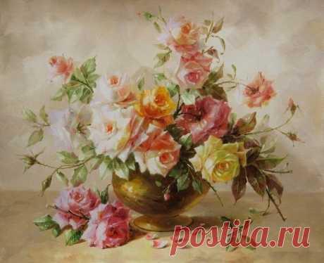 Оригинал схемы вышивки «розы» - Вышивка крестом