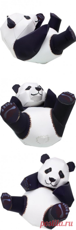Панда из бумаги, как сделать самому панду из бумаги