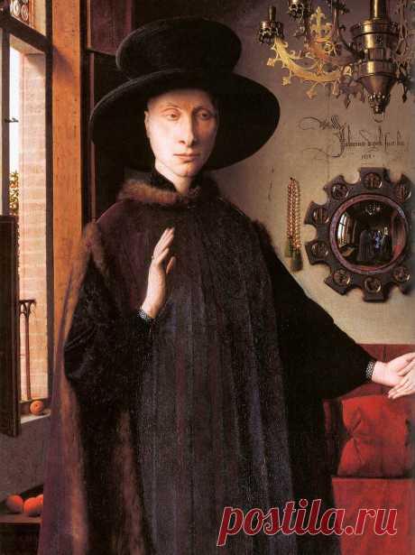 Ян ван Эйк. Портрет Джованни Арнолфини и его жены. 1434. Детали: shigona — ЖЖ