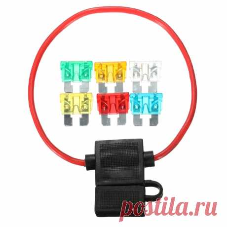 12v car in-line standard blade fuse holder waterproof with 5a 10a 15a 20a 25a 30a fuses Sale - Banggood.com