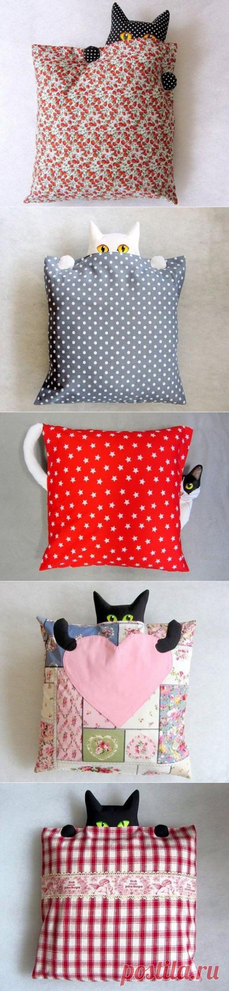 Оригинальные текстильные подушки — прекрасное дополнение в декоре интерьера.