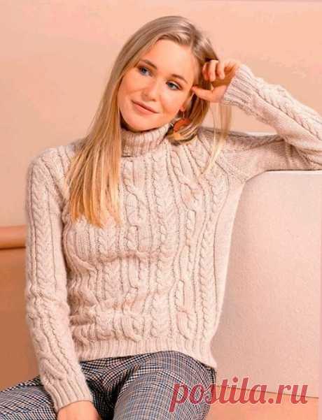 Как связать Кашемировый пуловер с воротником гольф