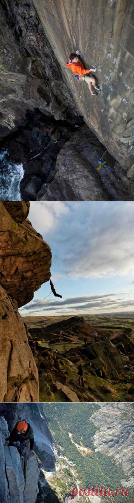 Dizzy photos of rock-climbers