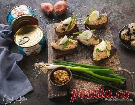 Форшмак из лосося на поджаренном бородинском хлебе — Вкусно!