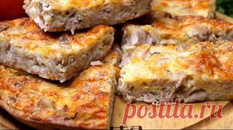 Очень вкусный и быстрый пирог-запеканка на ужин | WebVinegret