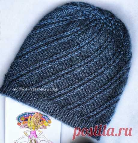 Стильные шапочки связанные спицами для девушек - Klubok - Modnoe Vyazanie.ru.com