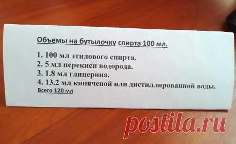 Антисептик для рук в домашних условиях по рекомендации ВОЗ | Мастер-Ок | Яндекс Дзен