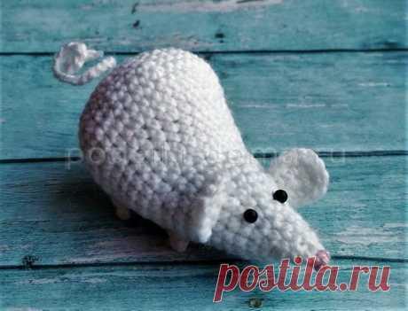 Вязаные игрушки мышки, символ 2020 года, крючком и спицами, фото и МК | podelki-doma.ru