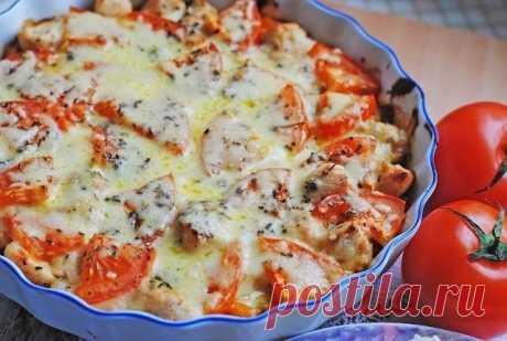 Как приготовить куриное филе запеченое с овощами и сыром. - рецепт, ингридиенты и фотографии