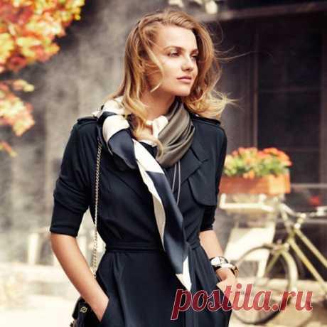Как красиво носить платок на шее; Модный приговор