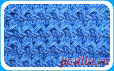 Вязание. Красивый объемный узор для вязания зимних вещей | 101секрет | Яндекс Дзен