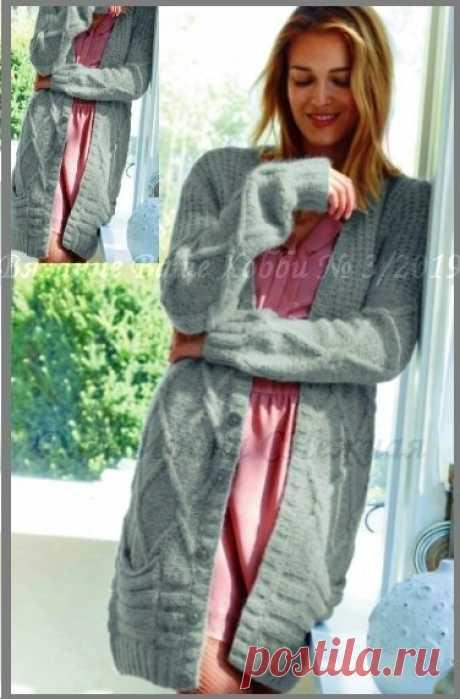 Я роскошная в любой день. Пальто, кардиганы, пуловеры для полных девушек на осенние дни. Вяжем спицами. Фото, схемы, описания. | Ирина СНежная | Яндекс Дзен