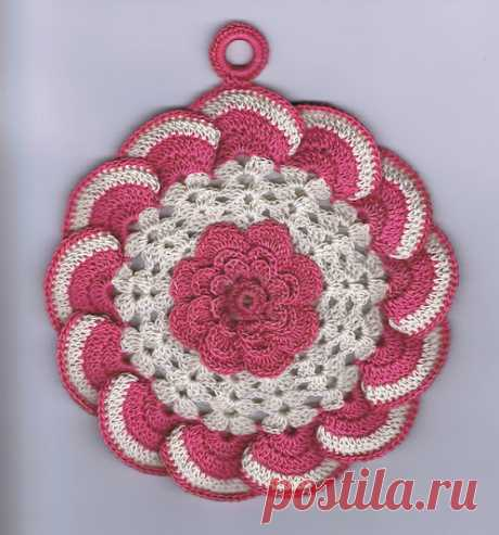 """TACK """"РОЗА"""". MK - record of the user Natalya (Natalya) in the community Knitting a hook in category Knitted a hook accessories"""