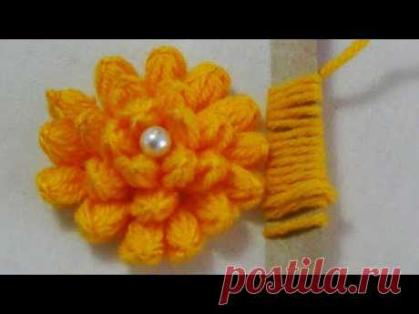Hand Embroidery: Hack to make Lotus Flowers/Brooch