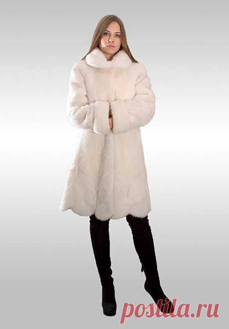 Манто (  № МеХ 66 ) Размер: индивидуальный пошив Материал : нутрия,  цвет белый