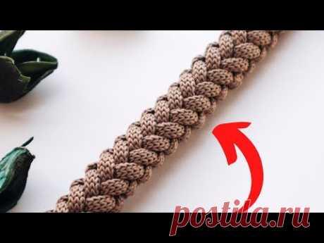 😱 Этот шнур ищут все! КОСА С ОБЕИХ СТОРОН. Вязание крючком | Nadezhda Lab