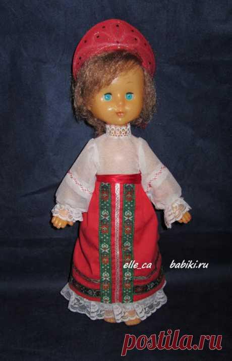 Создание народного костюма для игровой куклы своими руками. Мастер класс / Выкройки одежды для кукол-детей, мастер классы / Бэйбики. Куклы фото. Одежда для кукол
