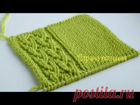 Узоры спицами. Ажурная планка. Knitting patterns. Lace bar.