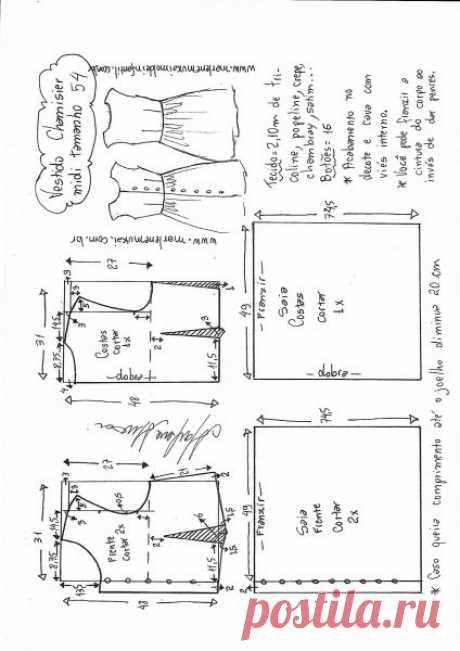 Vestido chamesier midi manga japonesa – Marlene Mukai