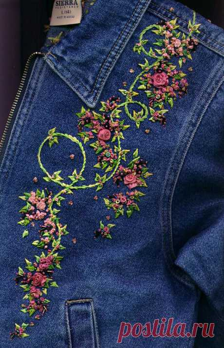 Diverse decor of jeans jackets: 50 interesting options