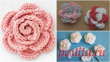 Crochet Rose Flower Patterns For Beginners This is a free crochet rose flower patterns list for beginners that include three different crochet rose patterns and step by step video tutorials...