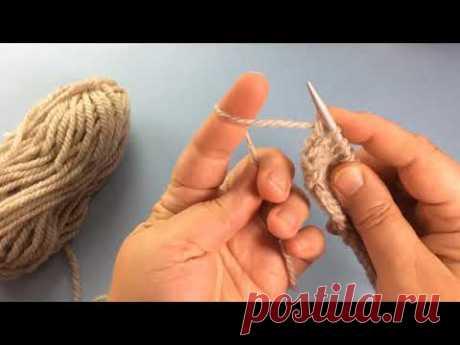 Kак набрать сразу много петель по краю полотна. Вязание спицами / How to Knit a chain stitch Cast On - YouTube