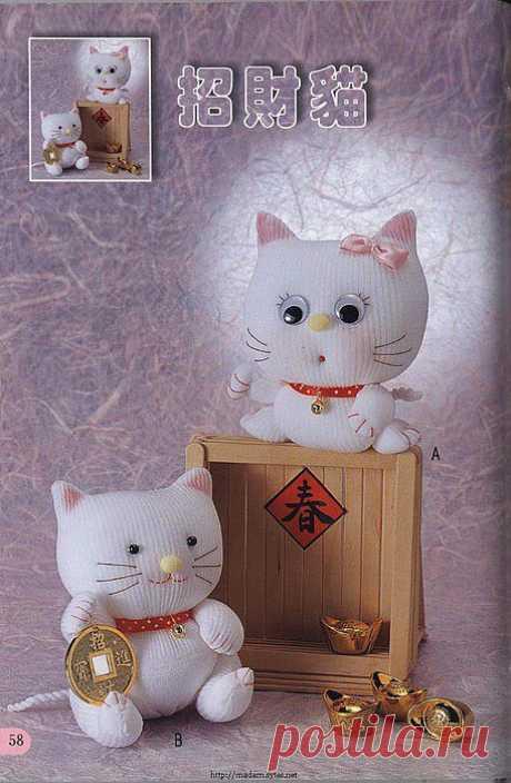 Игрушки из детских носочков